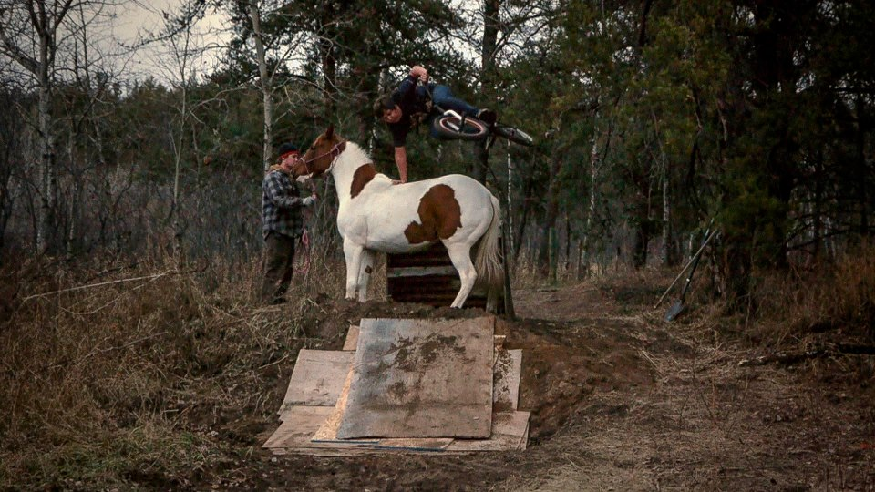 bike Mitch Anderson Handplants a Horse