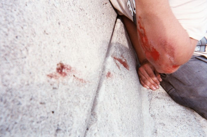 Paul had a rough go at some steep banks. Loves bleeding.